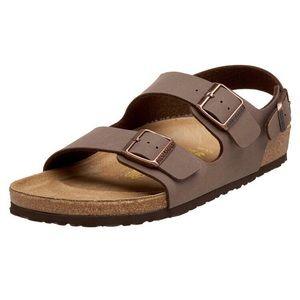 Birkenstock Milano Unisex Brown Leather Sandal